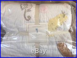 Pottery Barn Kids Isabelle Mermaid QUEEN Sheet Set F/Q Quilt Euro Shams Pillow