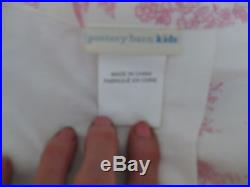Pottery Barn Kids Isabelle Toile Drape Panels Pink 44 x 84 Set of 2 French