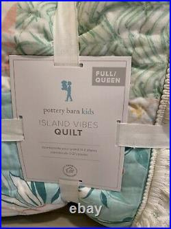 Pottery Barn Kids Island Vibes Patchwork Surf FULL QUEEN quilt Beach PINK
