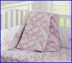 Pottery Barn Kids Jillian Lavender Nursery Crib Quilt+Sham+Sheet+Skirt+B. Liner