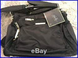 Pottery Barn Kids Jujube BFF Messenger Convertible Diaper Bag Onyx Black NEW