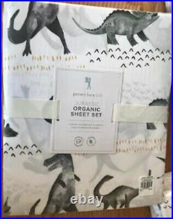 Pottery Barn Kids Jurassic Sheet Set Full Dinosaur Organic Cotton Dino