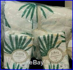 Pottery Barn Kids Justina Blakeney Jungalino Palm tree FULL QUEEN quilt 2 shams