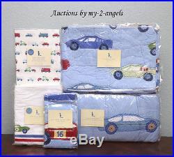 Pottery Barn Kids LITTLE RACER Race Cars Vehicles Brody Crib Quilt Nursery Set