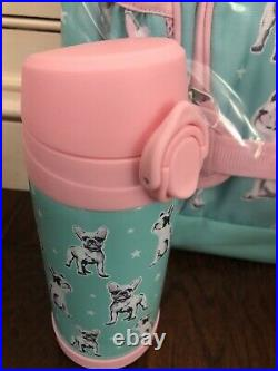 Pottery Barn Kids Large Backpack Frenchies Lunchbox Water Bottle Dogs Mackenzie