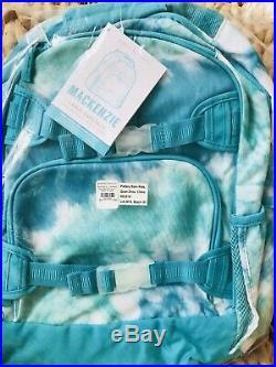 Pottery Barn Kids Large Backpack Pool Tie Dye Lunchbox Water Bottle New No Mono