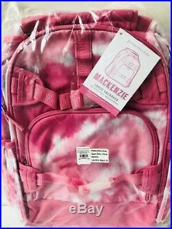 Pottery Barn Kids Large Backpack Tie Dye Pink Punch Lunchbox Water Bottle Set