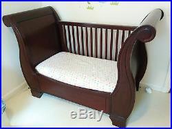 Pottery Barn Kids Larkin Sleigh Crib Convertible To