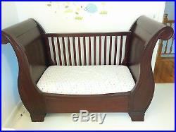 Pottery Barn Kids Larkin Sleigh Crib Convertible To Toddler Bed