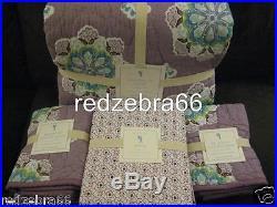 Pottery Barn Kids Lavender Brooklyn Full Quilt+Shams+Sheet Set 7-pc NEW