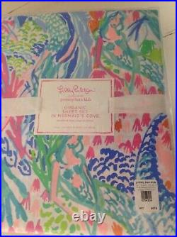 Pottery Barn Kids Lilly Pulitzer MERMAID COVE TWIN sheet set organic NIP