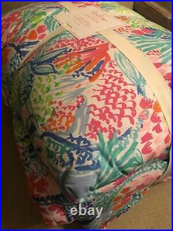 Pottery Barn Kids Lilly Pulitzer MERMAID COVE Twin Quilt Comforter
