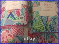 Pottery Barn Kids Lilly Pulitzer Mermaid Cove F/Q Comforter & 2 Std Shams NWT