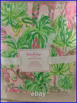 Pottery Barn Kids Lilly Pulitzer On Parade Full Sheet Set Colorful Summer