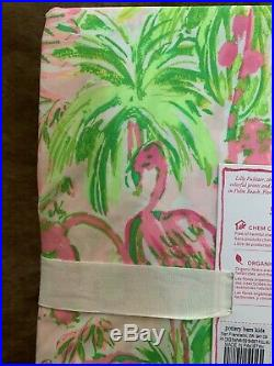 Pottery Barn Kids Lilly Pulitzer Organic Full Sheet Set In On Parade NWT