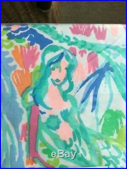 Pottery Barn Kids Lilly Pulitzer Organic MERMAID cove TWIN sheet set