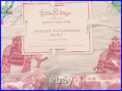 Pottery Barn Kids Lilly Pulitzer Printed Party Patchwork Full/Queen Quilt, Shams