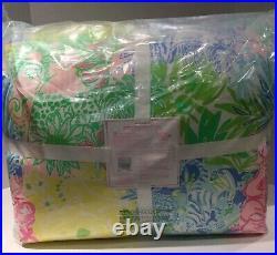 Pottery Barn Kids Lilly Pulitzer Reversible Cheek to Cheek Twin Comforter New