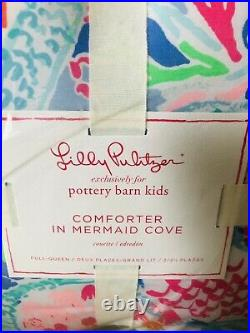Pottery Barn Kids Lilly Pulitzer Reversible Mermaid Cove Full Queen Comforter