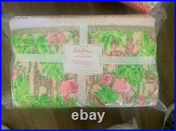 Pottery Barn Kids Lilly Pulitzer on parade patchwork FULL QUEEN quilt