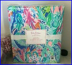 Pottery Barn Kids Lilly Pulitzer organic MERMAID cove Queen sheet set