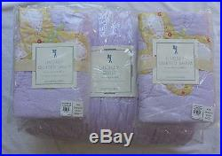 Pottery Barn Kids Lindsey Quilt Full-queen Lavender-purple 2 Shams Butterflies