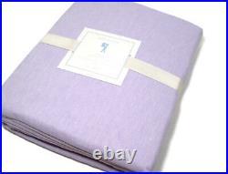 Pottery Barn Kids Linen Cotton Pale Lavender Purple Twin Duvet Cover New