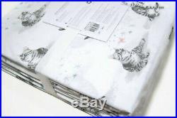 Pottery Barn Kids Lulu Kitty Cats Butterfly Organic Cotton Full Sheet Set New