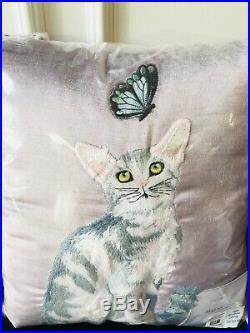 Pottery Barn Kids Lulu Kitty Full Queen Duvet Shams Pillow Set New Organic Sweet