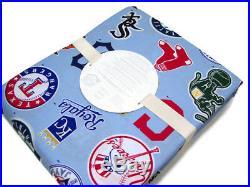 Pottery Barn Kids MLB Baseball American League Logo Full Queen Duvet Cover Shams