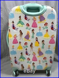 Pottery Barn Kids Mackenzie Disney Princess Hard-Sided Large Spinner Luggage