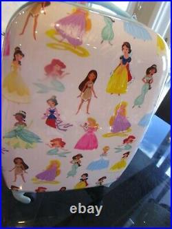Pottery Barn Kids Mackenzie Disney Princess hard sided small luggage photo shoot