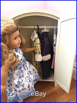 Pottery Barn Kids Madeline DOLL White Armoire for American Girl Dolls