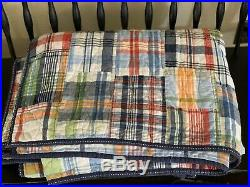 Pottery Barn Kids Madras Plaid Twin Quilt and Sham