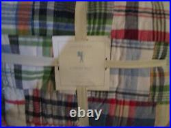 Pottery Barn Kids Madras twin quilt New with tag
