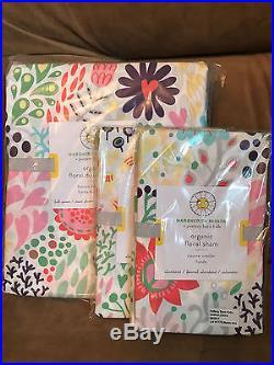 Pottery Barn Kids Margherita Missoni Floral Full/Queen F/Q Duvet Cover 2 Shams
