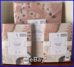 Pottery Barn Kids Marigold Butterfly FULL / QUEEN Duvet Cover & 2 Std Shams