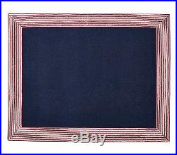 Pottery Barn Kids Marshall Stripe Area Rug Navy Blue and Red 5x8