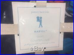 Pottery Barn Kids Marvel FULL QUEEN quilt Standard Sham Iron Man Captain America
