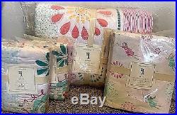 Pottery Barn Kids Maya Dandelion FULL quilt 2 shams SHEET set