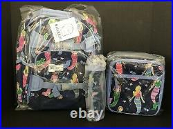 Pottery Barn Kids Mermaid Large Backpack Lunch Box Water Bottle Set NEW
