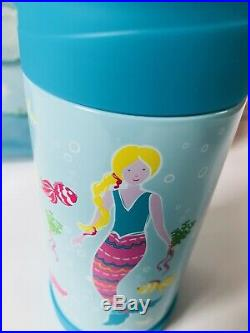 Pottery Barn Kids Mermaid Large Backpack Lunchbox Water Bottle Set Mackenzie New