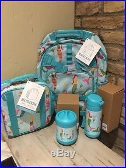 Pottery Barn Kids Mermaid Large Backpack classic Lunchbox thermos water Bottle