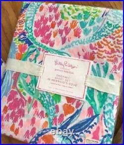 Pottery Barn Kids Mermaids Cove Sheet Set Pink Full Lilly Pulitzer 4pc New