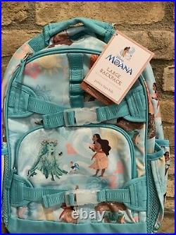 Pottery Barn Kids Moana Large Backpack Lunchbox Water Bottle Set Disney Princess
