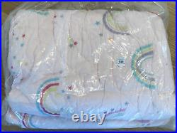 Pottery Barn Kids Molly Rainbow Cotton Super Soft Plush Quilt Twin Blush, New