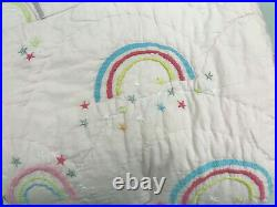Pottery Barn Kids Molly Rainbow Twin Blush Pink Quilt