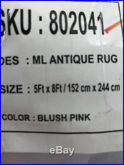 Pottery Barn Kids Monique Lhuillier Antique Pink Blush 5x8 Rug Vintage New