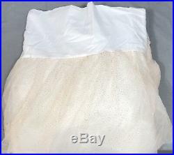 Pottery Barn Kids Monique Lhuillier Glitter Tulle Full Bed Skirt