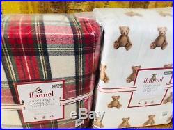 Pottery Barn Kids Morgan FULL QUEEN Duvet Teddy Bear Sheet Set Shams Christmas